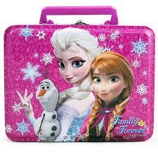 disney frozen anna elsa olaf rectangle tin lunch box