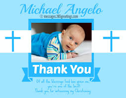 baptism thank you wording christening messages 365greetings