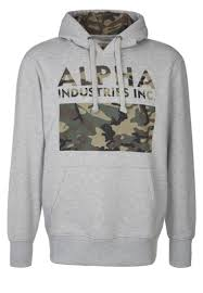alpha industries men hoodies camouflage print hoody hoodie