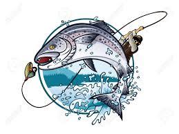 salmon clipart funny fish pencil and in color salmon clipart