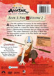 avatar airbender dvd rear box art avatar