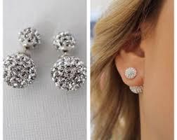 sided earrings sided earring etsy