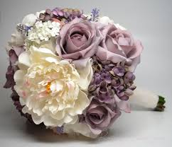 Shabby Chic Wedding Bouquets by Lavender Rose Hydrangea And Peony Shabby Chic Wedding Bouquet