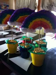 Rainbow Centerpiece Ideas by Rainbow Centerpieces I Saw I Pinned I Conquered Pinterest