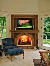 wonderful wall mounted tv idea with classy fireplace design