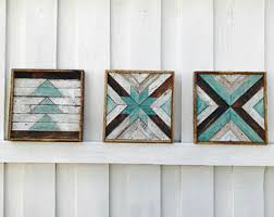 distressed wood artwork reclaimed wood etsy