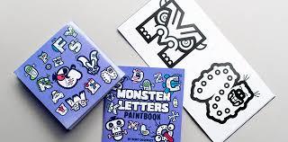 bd monster letters typedifferent com büro destruct