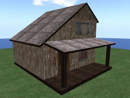slant roof second life marketplace re western slant roof home old plank