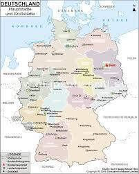 Deutschland Und Frankreich Karte by Karte Der Deutschen Hauptstadte Und Grobstadte Landkarte Der