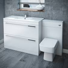 White Vanity Bathroom by Nova Bathroom Furniture Range Victorian Plumbing Uk