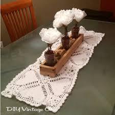 valentines day table runner diy vintage chic crochet s day table runner