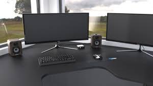 Pc Desk Setup Pc Desk Setup 3d Cad Model Library Grabcad