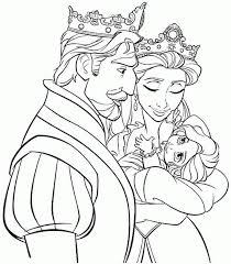 coloring pages disney princess tangled rapunzel free for girls