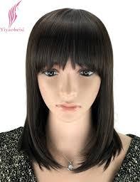 medium hair yiyaobess 14inch synthetic shoulder length straight medium hair