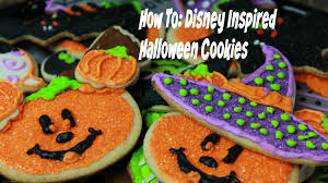 how to make disney inspired halloween cookies youtube
