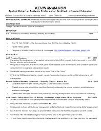 Child Development Resume Kevin Mcmahon Resume