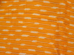 Ikat Home Decor Fabric by Indian Handloom Orange Ikat Cotton Fabric Ikat Fabric By Yard For