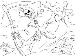 scary halloween color pages free printable halloween coloring