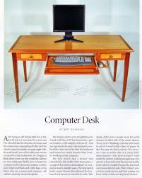 computer desk plans u2022 woodarchivist