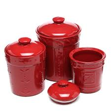 red kitchen canister set red kitchen canisters in vintage style