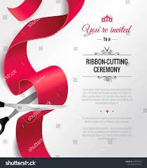 Launch Invitation Card Sample You Invited Invitation Card Curving Ribbon Stock Vector 443523898