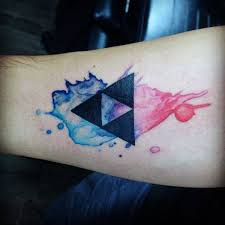 60 triforce tattoo designs for men legend of zelda ink ideas