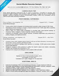 social media resume social media resume sle writing tips resume companion