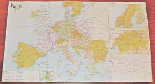 Eurail Map Europe Itinerary Confetti Filled Backpacks
