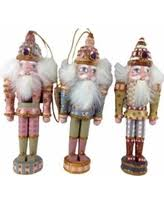 amazing deal kurt adler wooden nutcracker ornament set