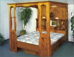 rustic wood canopy bed frame luxurious wood canopy bed frame