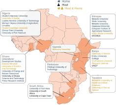 Map Of Uganda Africa by Aesa Circle Programmes