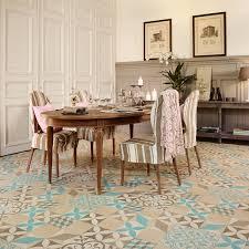 Dining Room Flooring Options by Mardi Gras 533 Filez Moroccan Patterned Tile Vinyl Flooring