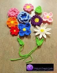 Free Pattern For Crochet Flower - 93 best crochet flower patterns images on pinterest crochet