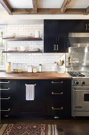 Black Rustic Kitchen Cabinets Best Choice Of Kitchen One Color Fits Most Black Cabinets At