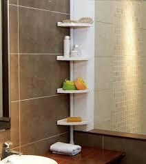 bathroom shelve funkybuys white 4 tier adjustable 70 240 cm si 077 telescopic