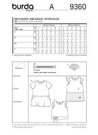 burda 9360 child dress blouse and skirt