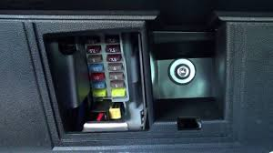 fiat 500 interior fuse box location youtube