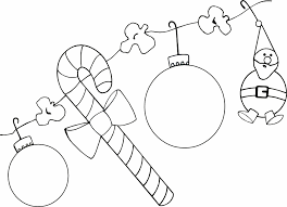 decorations coloring coloring page