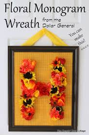 wreath supplies floral monogram fall wreath dollargeneral the country chic cottage