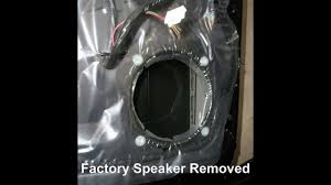 how to replace front door speakers in a mitsubishi lancer youtube