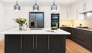 two tone kitchen cabinets with black countertops two toned shaker kitchen cabinets to mix and match for your