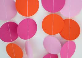 birthday decorations paper garland decoration