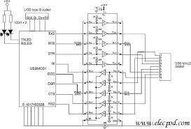 usb to rs232 converter by ic max235 u2013 circuit wiring diagrams