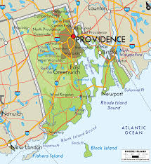 Rhode Island mountains images Physical map of rhode island ezilon maps gif