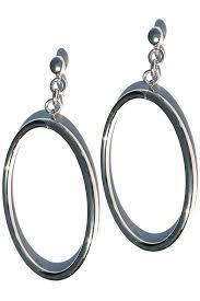 hoop earring ronstadt inspired silver hoop earring steve sasco design