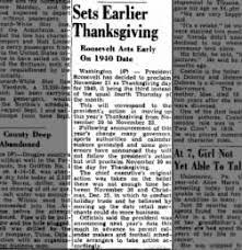 fdr thanksgiving november 23 1939 fishwrap