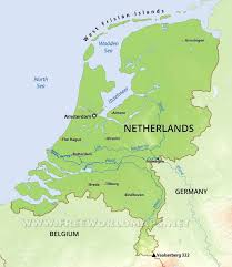 netherlands map images the netherlands physical map