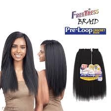 pre braided crochet hair freetress 3x pre looped yaki 16 crochet