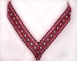 necklace patterns with beads images Free pattern for beautiful beaded necklace cherry beads magic jpg