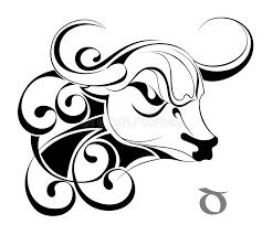 zodiac signs taurus tattoo design stock vector image 21789073